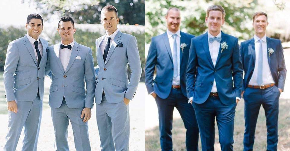 夏季婚禮新郎西裝的穿搭-力群西服
